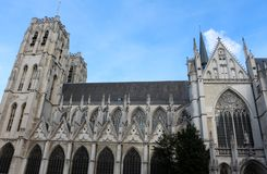 Cathedral of St. Michael and St. Gudula, Brussels, Belgium Royalty Free Stock Photo