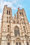 Cathedral of St. Michael and St. Gudula  is a Roman Catholic chu Stock Image