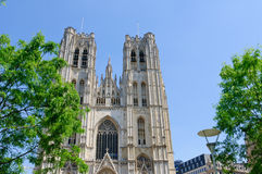 Cathedral St.Michel in Brussels, Belgium Royalty Free Stock Photo