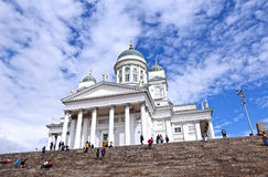 Cathedral of St. Nicholas (Cathedral Basilica) in Helsinki Stock Photos