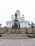 Cathedral of St. Nicholas (Cathedral Basilica) and monument Royalty Free Stock Photo