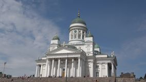 The Cathedral of St. Nicholas closeup. Sunny June day. Helsinki, Finland stock video
