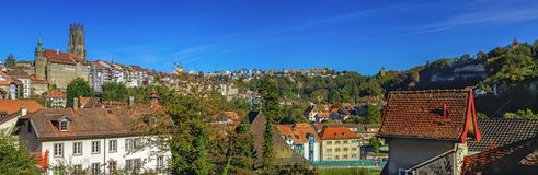 Cathedral of St. Nicholas in Fribourg, Switzerland Stock Photography