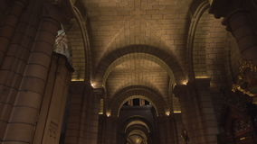 Cathedral of St. Nicholas inside. Cathedral of St. Nicholas in Monaco stock video footage