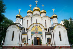 Cathedral of St. Nicholas in Pereslavl, Russia. Cathedral of St. Nicholas in St. Nicholas monastery in Pereslavl. The ancient town of Pereslavl is a tourist Stock Image