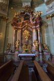 Cathedral of St. Nicholas. Prague. stock images