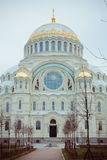 Cathedral of St. Nicholas in town Kronshtadt, Russia Stock Photography