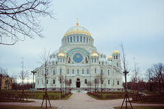 Cathedral of St. Nicholas in town Kronshtadt, Russia Royalty Free Stock Photos