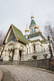 Cathedral of St. Nicholas the Wonderworker in Sofia, Bulgaria Stock Images