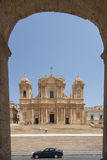 Cathedral of st. nicolò noto  syracuse sicily Italy europe Royalty Free Stock Images