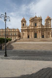 Cathedral of st. nicolò noto  syracuse sicily Italy europe Royalty Free Stock Photos