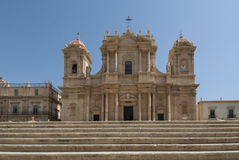 Cathedral of st. nicolò noto  syracuse sicily Italy europe Royalty Free Stock Photography