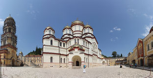 Cathedral of St. Panteleimon the Great Martyr in the New Athos Monastery of St. Simon the Zealot Stock Images