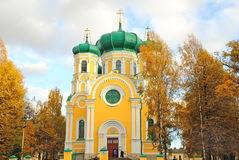 Cathedral of St. Paul in Gatchina, Russia stock images