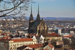 Cathedral st. Paul and Peter. Brno, Czech Republic Stock Photo