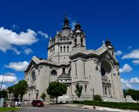 Cathedral of St. Paul. This is a Summer picture of the Cathedral of St. Paul located in St. Paul, Minnesota. The Cathedral was designed by Emmanuel Louis stock photo