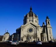 Cathedral of St. Paul. This is a Winter picture of the historic Cathedral of St. Paul located in St. Paul, Minnesota in Ramsey County.  This example of Classical Royalty Free Stock Photo