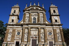 Cathedral of St.Peter Apostle in Frascati (Italy). The most popolar church in Frascati (Rome, Italy Royalty Free Stock Photos
