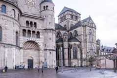 Cathedral of St. Peter -the oldest Christian church in Germany Stock Photos