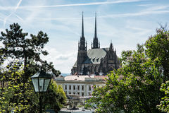 Cathedral of St. Peter and Paul in Brno, Czech republic. Cathedral of St. Peter and Paul in Brno, Moravia, Czech republic. Religious architecture. Beautiful stock image