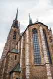 Cathedral of St Peter and Paul in Brno, Czech Stock Images