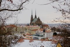 Cathedral st.Peter and Paul in winter. Royalty Free Stock Images
