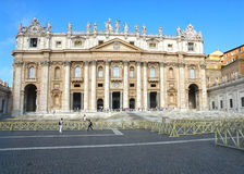 Cathedral of St. Peter's, Rome, Italy. St. Peter's Square at the Vatican, Rome, Italy Stock Image