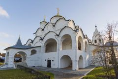Cathedral at St. Pokrovsky Monastery was built  16th century in Suzdal. Golden Ring Travel of Russia Royalty Free Stock Image