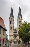 Cathedral of St. Sephan, Halberstadt, Germany. Elegant gothic St. Sephan cathedral, following French models, was was built in the 1230s, Halberstadt, Germany stock photo