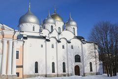 The Cathedral of St. Sophia in Novgorod. The Cathedral of St. Sophia (the Holy Wisdom of God), Veliky Novgorod, Russia Royalty Free Stock Images