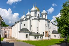 Cathedral of St. Sophia, Novgorod, Russia royalty free stock image