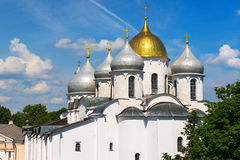 The Cathedral of St. Sophia in Veliky Novgorod Royalty Free Stock Photos