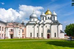 Cathedral of St. Sophia, Veliky Novgorod, Russia stock photos