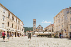 The Cathedral of St. Stephen in Hvar Stock Photography