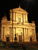 The Cathedral of St. Ursus`at night. The Catherdal in Solothurn Switzerland at night Stock Photography