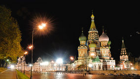 Cathedral of St. Vasily the Blessed.The Russian Orthodox Church,erected on Red Square in Moscow in 1555–61 Stock Images