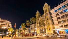The Cathedral of St. Vincent de Paul in Tunis, Tunisia Stock Photos