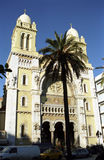 Cathedral St. Vincent de Paul, Tunis, Tunisia Royalty Free Stock Photos