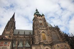 Cathedral of St. Vita. With the chapel of St. Wenceslas. Prague, Czech Republic Stock Photos