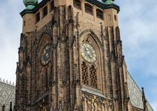 Cathedral of St. Vita. Prague, Czech Republic. Cathedral of St. Vita with the chapel of St. Wenceslas. Prague, Czech Republic Royalty Free Stock Photography
