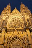 Cathedral of St.Vitus. At night in Prague (Czech Republic royalty free stock photos