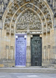 Cathedral St.Vitus entrance from Prague in Czech Republic Stock Image