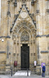 Cathedral St.Vitus entrance from Prague in Czech Republic Stock Images