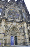 Cathedral St.Vitus entrance from Prague in Czech Republic Stock Photos