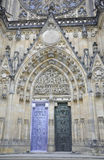 Cathedral St.Vitus entrance from Prague in Czech Republic Stock Photography