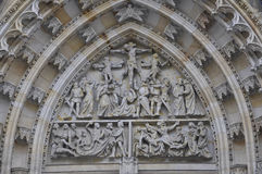 Cathedral St.Vitus facade details from Prague in Czech Republic Royalty Free Stock Photo