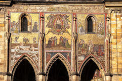 Cathedral of St Vitus. The Mosaic of the Last Judgement (1372), on the side of the Cathedral of St Vitus In Prague Czech Republic Europe royalty free stock photography