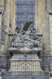 Cathedral St.Vitus stone sculpture from Prague in Czech Republic Stock Image