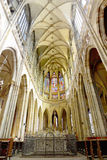 Cathedral of st. Vitus,Vaclav Indoor. Prague Stock Photo