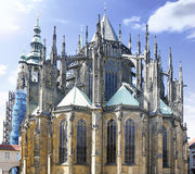 Cathedral of st. Vitus, Vaclav and Voiteha. Prague Royalty Free Stock Photo